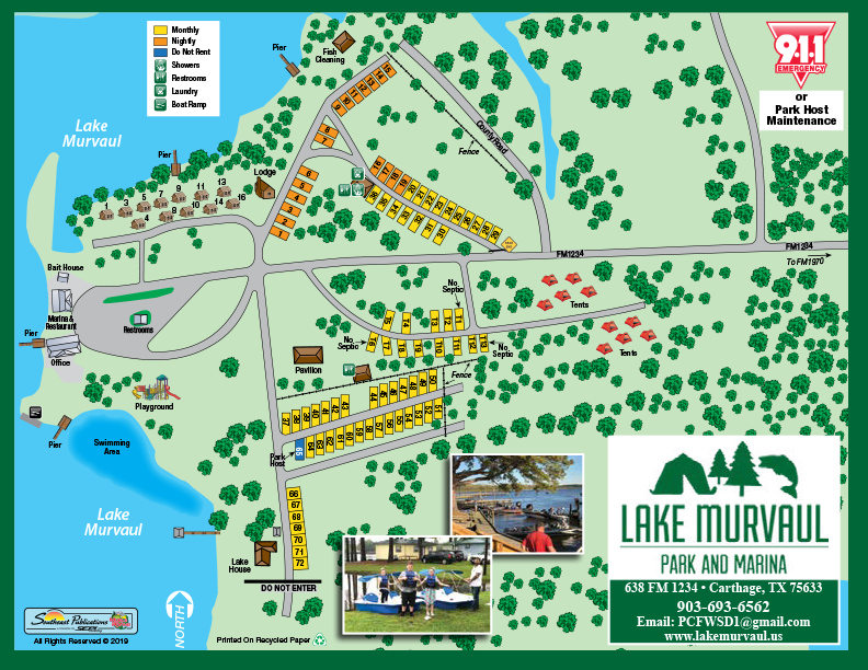 lake murvaul rv park and campground sitemap